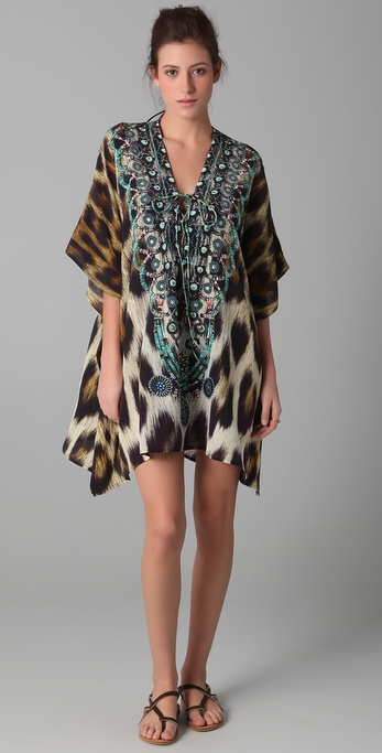 Camilla Sphinx Short Lace Up Caftan