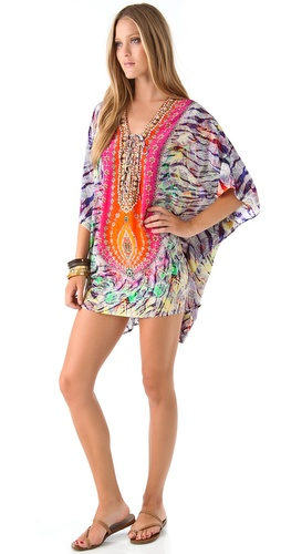 Camilla Waterfall Lace Up Caftan