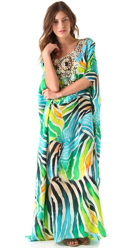 Camilla Tropical Zebra Caftan