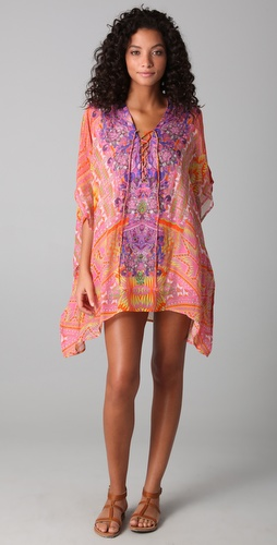 Camilla Poco Short Lace Up Caftan