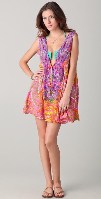 Camilla Aztec V Neck Drawstring Dress
