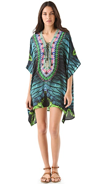 Camilla Short Lace Up Caftan Cover Up