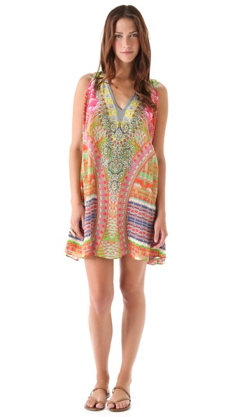 Camilla Mayan Short Cover Up Dress