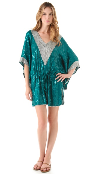 Camilla Sequin Caftan Cover Up Dress