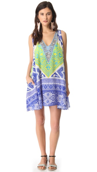Camilla Short Cover Up Dress with Pocket