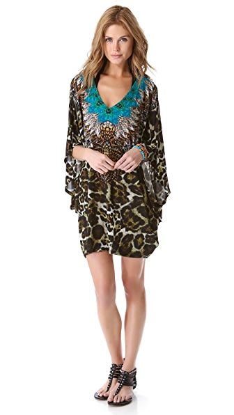 Camilla Bat Sleeve Cover Up Dress