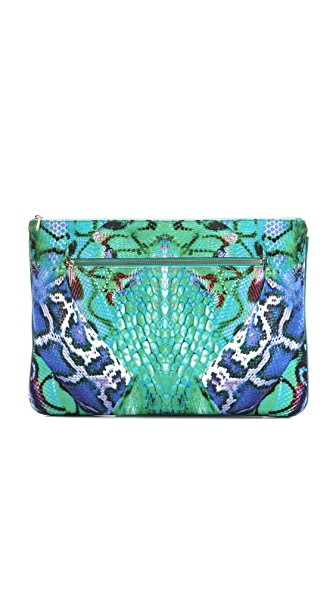 Camilla A Land of Wonder Large Zip Clutch