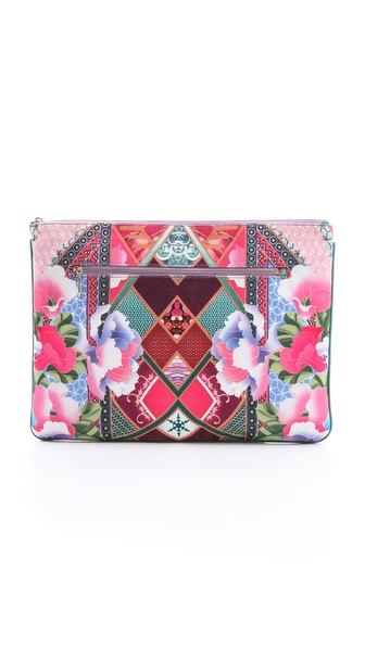 Camilla Violet Eyes Large Zip Clutch
