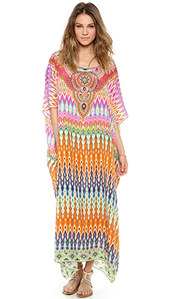 Camilla The Lares Trail Round Neck Caftan