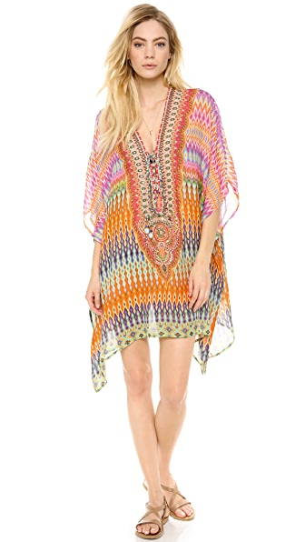 Camilla The Lares Trail Short Lace Caftan