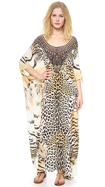 Camilla Jaguar Round Neck Caftan