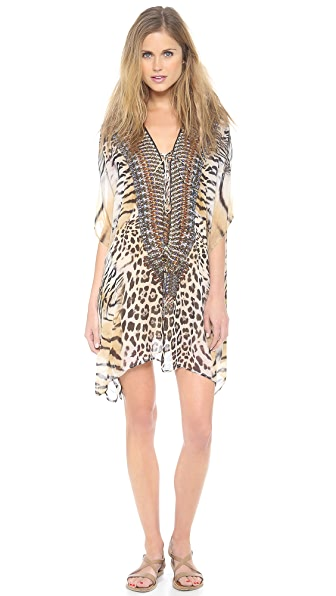 Camilla The Promised Land Short Lace Up Caftan