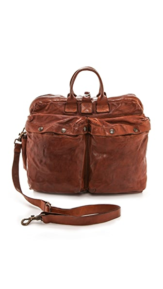 Campomaggi Washed Leather Messenger Bag