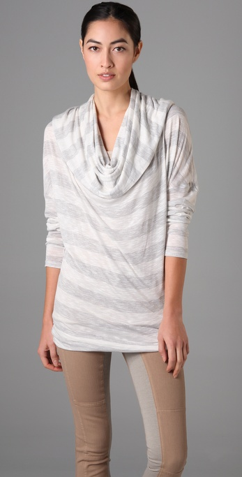C&C California Heather Stripe Hooded Tunic
