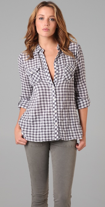C&C California Gingham Top