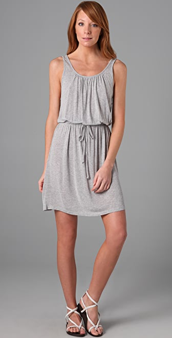 C&C California Shirred Tie Dress