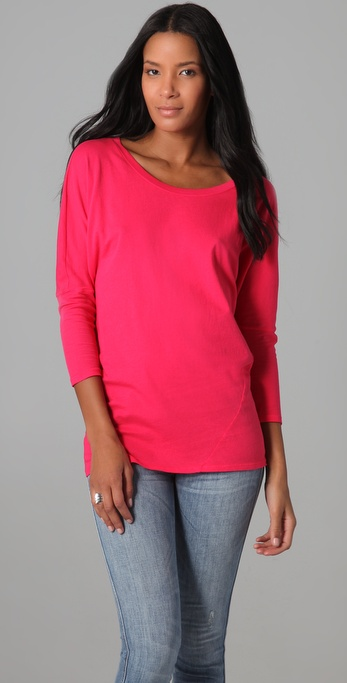 C&C California 3/4 Sleeve Dolman Twist Tee