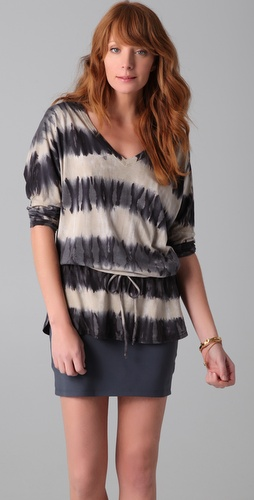 C&C California Tie Dye Dolman Tunic