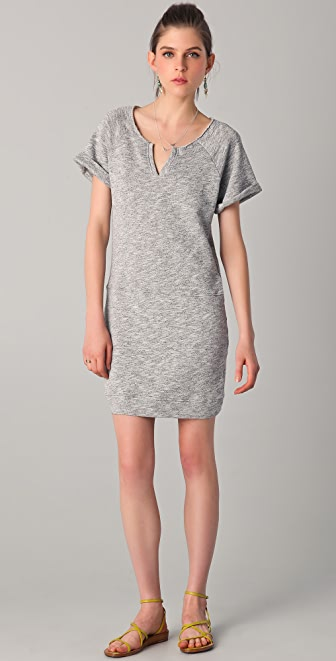 C&C California Short Sleeve Terry Sweatshirt Dress