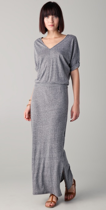 C&C California V Neck Maxi Dress