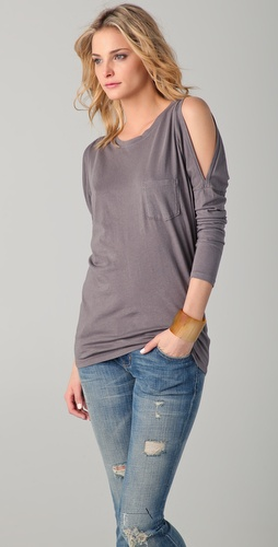 C&C California Cutout Shoulder Dolman Top