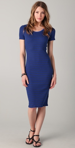 C&C California Short Sleeve Midi Dress