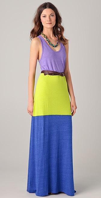 C&C California Colorblock Maxi Tank Dress