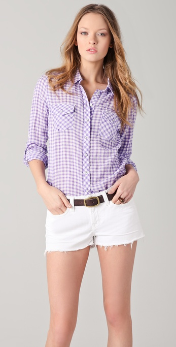 C&C California Gingham Check Roll Sleeve Shirt