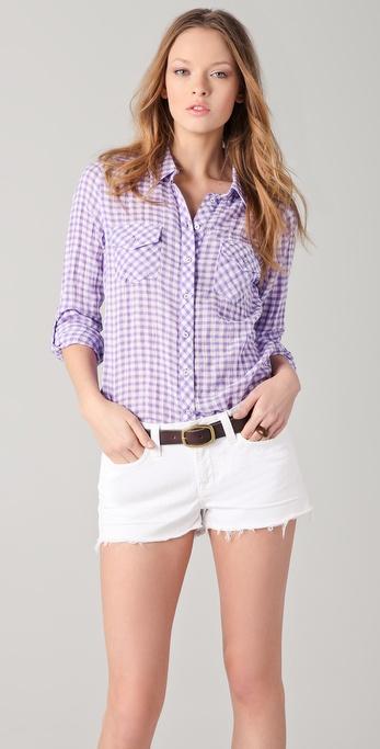 C&C California Gingham Check Roll Sleeve Shirt