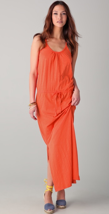 C&C California Slubbed Jersey Maxi Dress
