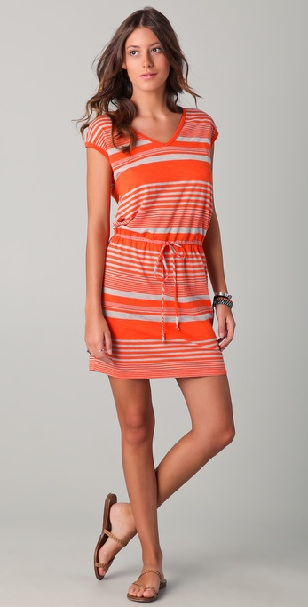 C&C California Desert Striped Tie Back Dress