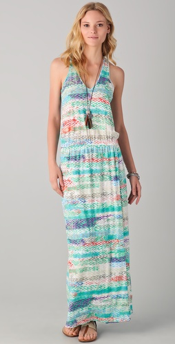 C&C California Zigzag Print Maxi Dress