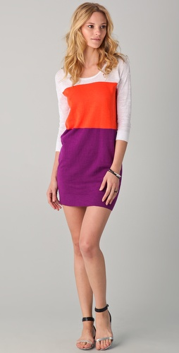 C&C California Colorblock Sweater Dress