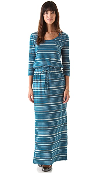 C&C California Tie Waist Maxi Dress