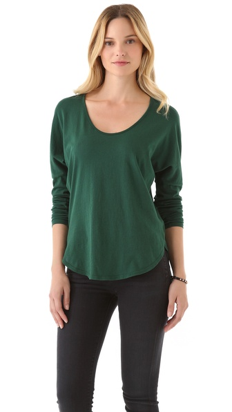 C&C California Shirttail Tee with Long Sleeves