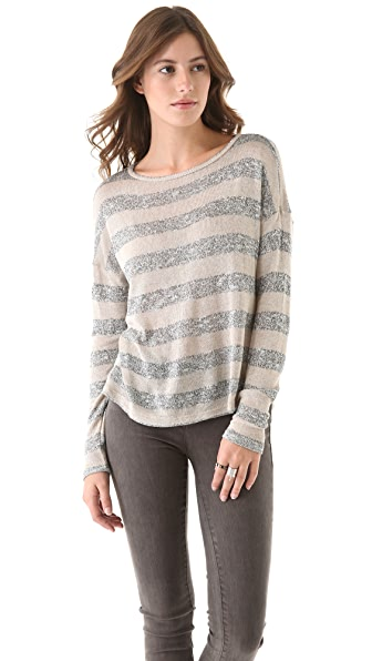 C&C California Stripe Boat Neck Sweater