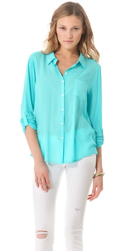 C&C California Roll Sleeve Shirt at Shopbop.com