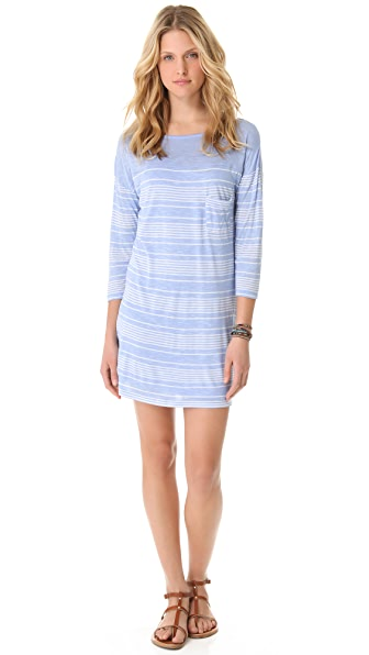 C&C California 3/4 Sleeve Boat Neck Dress