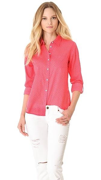 C&C California Roll Sleeve Polka Dot Shirt