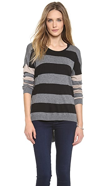 C&C California Hi / Lo Mix Stripe Sweater