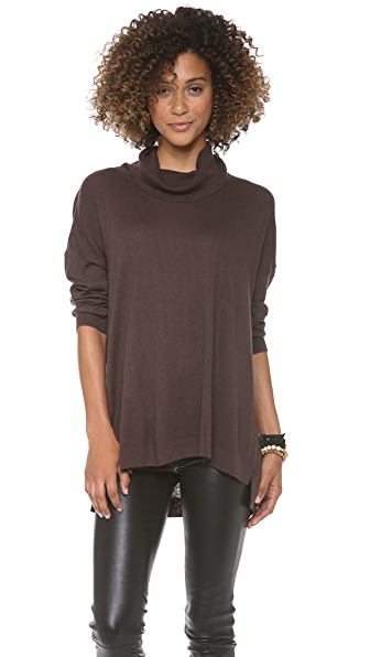 C&C California 3/4 Sleeve Cowl Neck Sweater