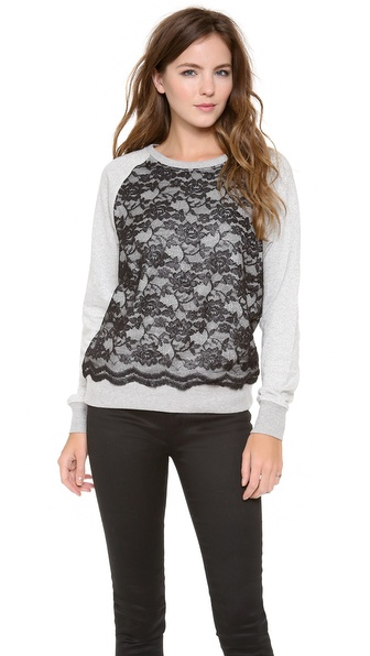 C&C California Long Sleeve Lace Sweatshirt