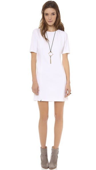 C&C California Short Sleeve Dress with Zip Hem