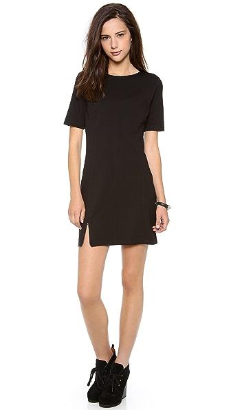C&C California Short Sleeve Dress with Zip Hem