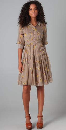 Candela Pleated Shirtdress