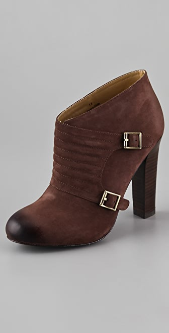 Candela Quilted Monk Strap Booties