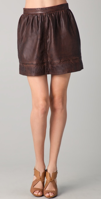 Candela Michael Leather Skirt