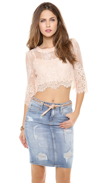 Candela Crawley Top - Blush