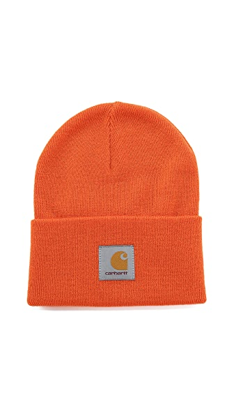 Carhartt Wip Acrylic Watch Hat - Carhartt Orange