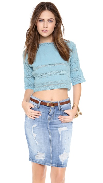 Carolina K Crochet Huichol Top